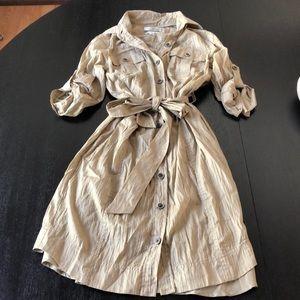 Banana Republic safari cotton dress